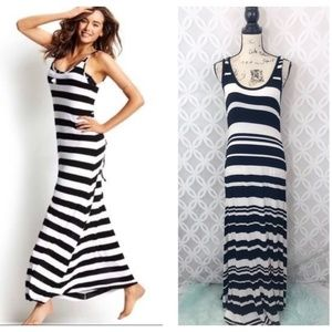 Calvin Klein Tank Striped Jersey Maxi Dress
